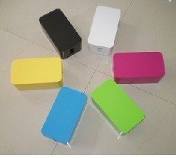 big size.Cretive design Cable box Mini color Wire Storage Box,computer cable box+6pcs cable bind belt.free shipping.
