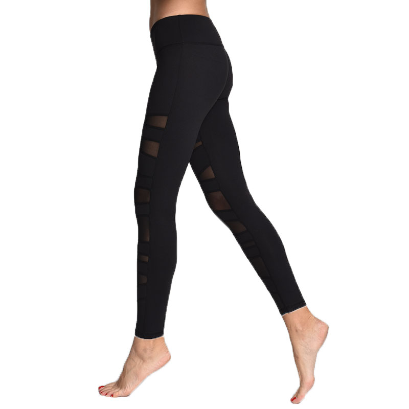Fantastic  Women Wholesale Yoga PantsWomen Mesh Long LeggingsMesh Yoga Pants