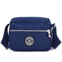 JINQIAOER Double Layer Zipper Women Shoulder Bag Waterproof Cute Messenger Bag Candy Color Brand Small Nylon Crossbody Bag Bolsa все цены