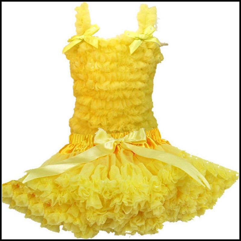 Тегін жеткізу Pure Color Baby Chiffon Ruffle көйлек - Балалар киімі - фото 2