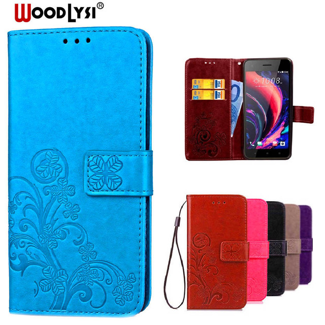 official photos 4ec55 ff61f WoodLysi Luxury Retro Leather Wallet Flip Cover Case For HTC Desire 10 Pro  Protective Phone Case With Card Slots holder-in Wallet Cases from ...