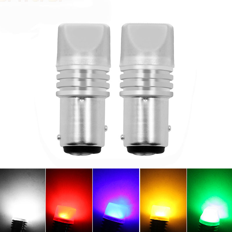 2x p21w bay15d ba15s P21/5W 1156 1157 led COB 12v auto Brake light White red car led Bulbs rear Turn signal lamp parking Styling