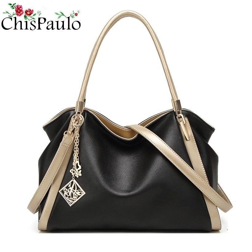 CHISPAULO Famous Brands Designer Handbags High Quality Fashion Cowhide Women s Genuine Leather Handbags Women Messenger