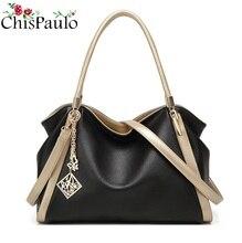 CHISPAULO Berühmte Marken Designer Handtaschen Hochwertige Mode Rindsleder frauen Aus Echtem Leder Handtaschen Frauen Umhängetasche T580