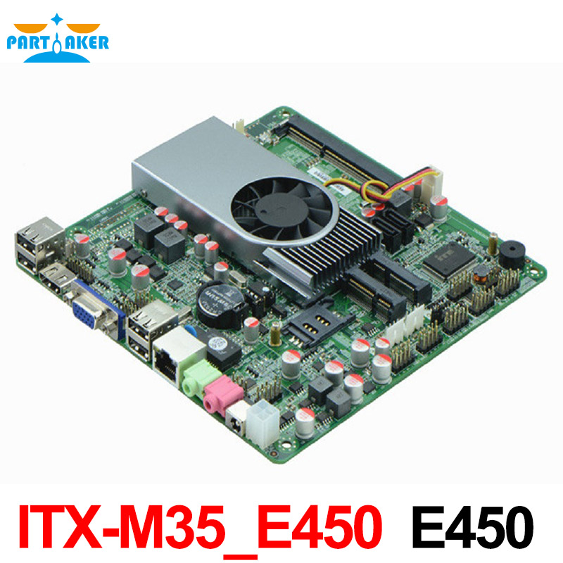 ITX-M35_E450 mini itx motherboard Ultra thin all in one motherboard with HDMI /VGA/ LVDS ipx41 ml g41 itx mini motherboard 775 platform 100
