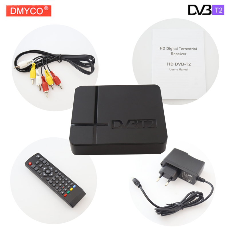 Hot sale Mini K2 DVB T2 Decoder terrestrial digital Satellite TV signal receiver HD 1080P MPEG4 H.264 PVR TV Receivers Top Box