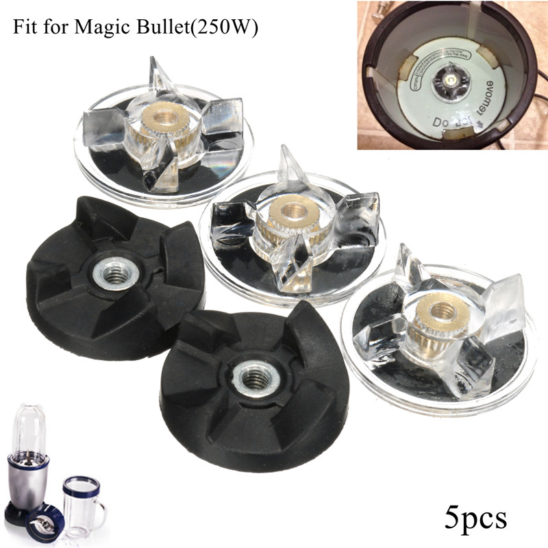 3 Plastic Gear Base + 2 Rubber Gear For Magic Bullet Replacement Spare Parts Durable Quality