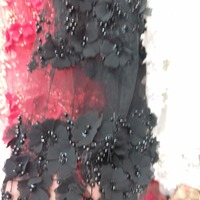 Top quality new design 3d flowers black swiss voile lace /african swiss lace fabric 5yards one piece for wedding
