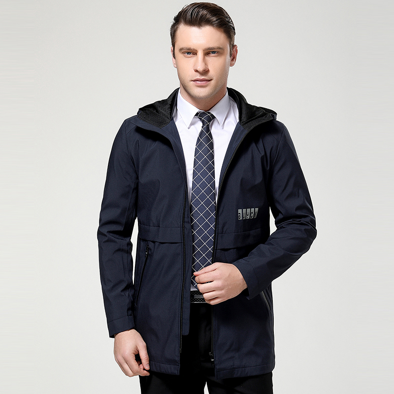 2017 new arrival spring and autumn style high quality fashion coat business casual series men's hooded code jacket size M-3XL