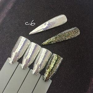 Image 3 - 1 frasco de diamantes AURORA purpurina brillo de uñas de sirena polvo de unicornio lentejuelas 3D Nail Art pigmento decoración SUPER brillante Efecto 1g
