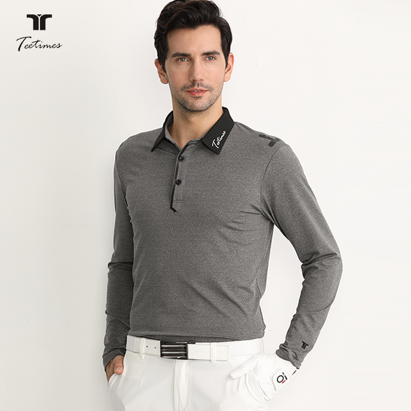 Golf Long-Sleeved T-shirt Men's Autumn and Winter Polo Shirt Breathable and Quick-Drying Clothing Shirt Golf Stretch Jersey 2018 pgm golf men s t shirt autumn winter long sleeved t shirt absorb sweat quick drying perspiration shirt for men size m xxl