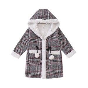 Image 5 - אופנה בנות חם מעילי חורף משובץ סלעית מעיל מעיילי הלבשה עליונה ילדי ילדה עבה מעיל במשקל כבד 4 14Y ילדים
