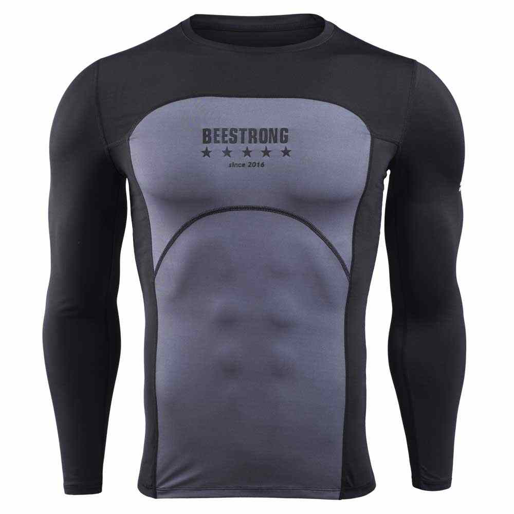 Men Quick Dry Workout Gymming Top Tee Sporting Runs Yogaing Compress Fitness Clothes Exercise Plus Size Clothing T Shirt VY17812