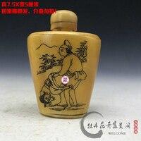 Antik erotik enfiye enfiye şişesi koleksiyonu kemik oyma