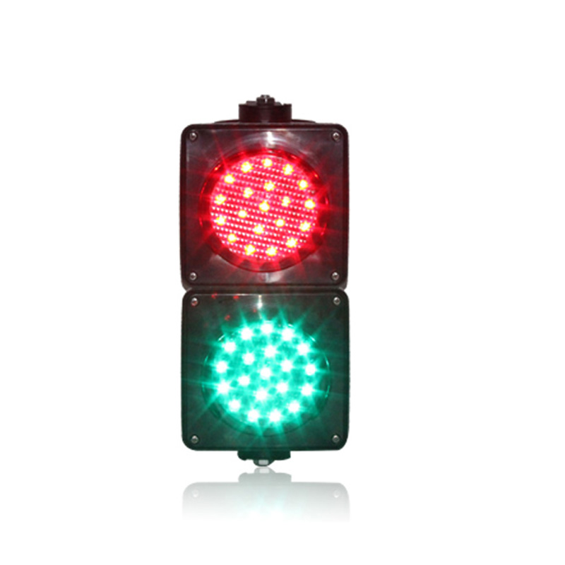 DC12V New Customized 100mm Red Green Mini Parking Lots LED Traffic Signal Light For Promotion