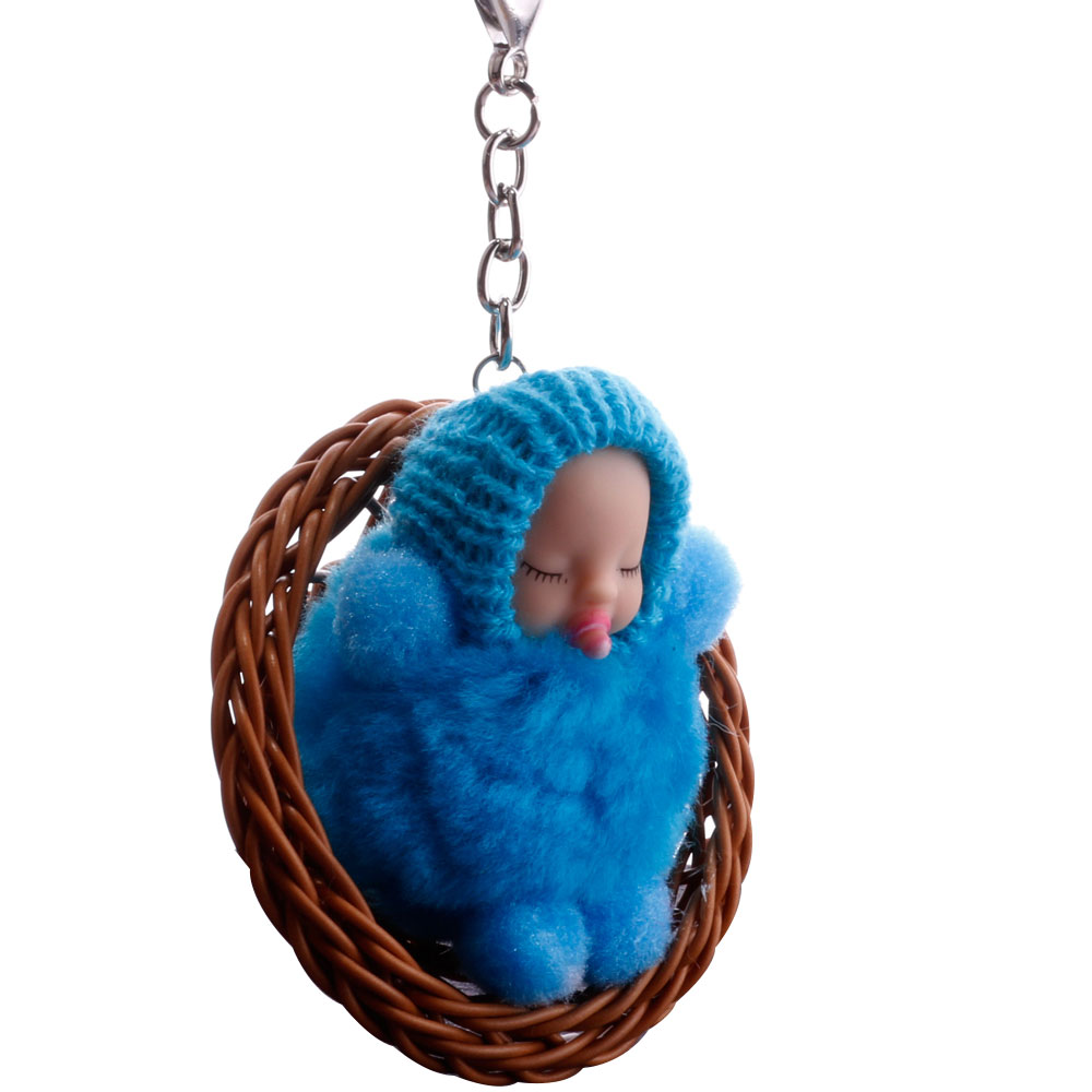 Car Key Chain Doll Keys Chain Fluffy Doll Key Ring Women'S Fashion Cartoons Toy Baby