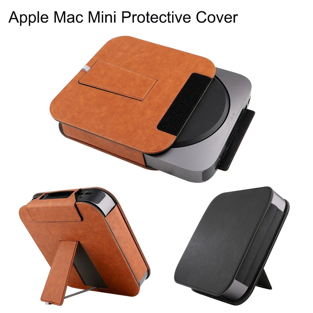 US $13 58 20% OFF|XBERSTAR PU Leather Case for 2018 Apple Mac Mini Desktop  Full Skin Cover Sleeve Protector for Apple Mac Mini Stand Pouch Bag-in