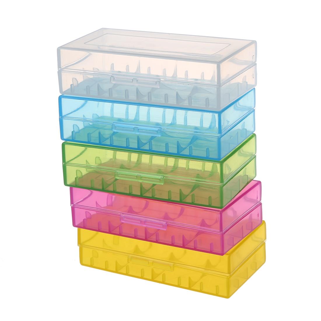 5 Colors in One Set Hard Plastic Case Holder Storage Box Rack for <font><b>Battery</b></font> <font><b>18650</b></font>