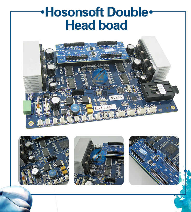Hoson Double Printhead DX5 DX7 5113 XP600 Kepala Borad Kit untuk Update Printer