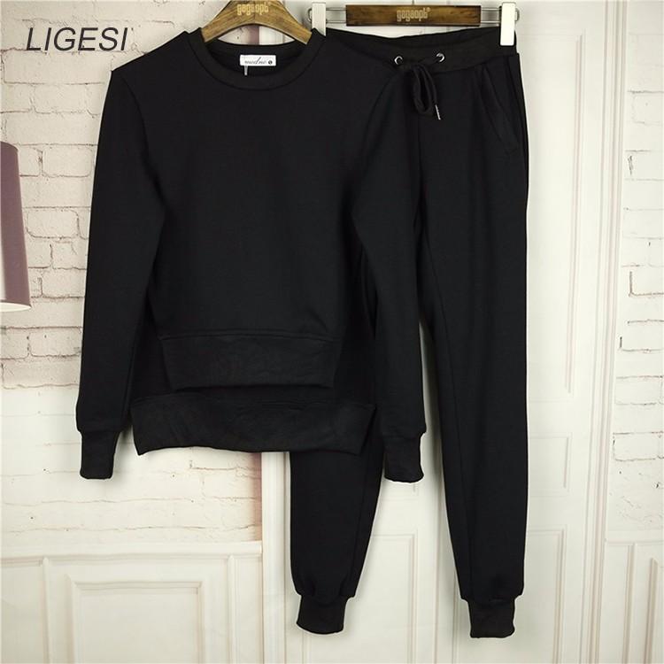Women's Cotton Tracksuit, 2 Piece Set, Sportswear Suit, Women's Irregular Tracksuit 10
