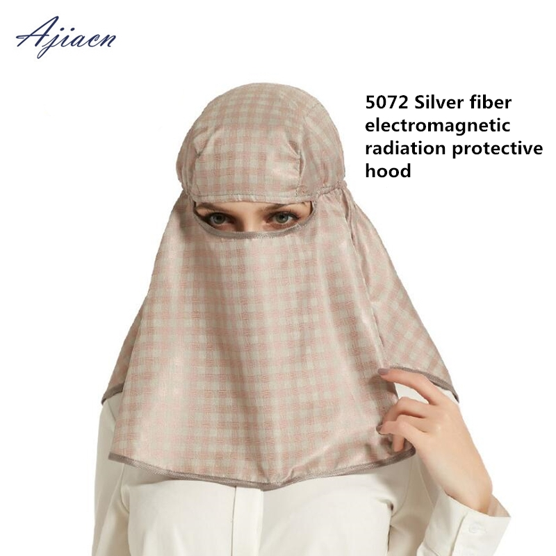New Arrivals Anti radiation silver fiber head hood mask computer room microwave EMF shielding 50 silver