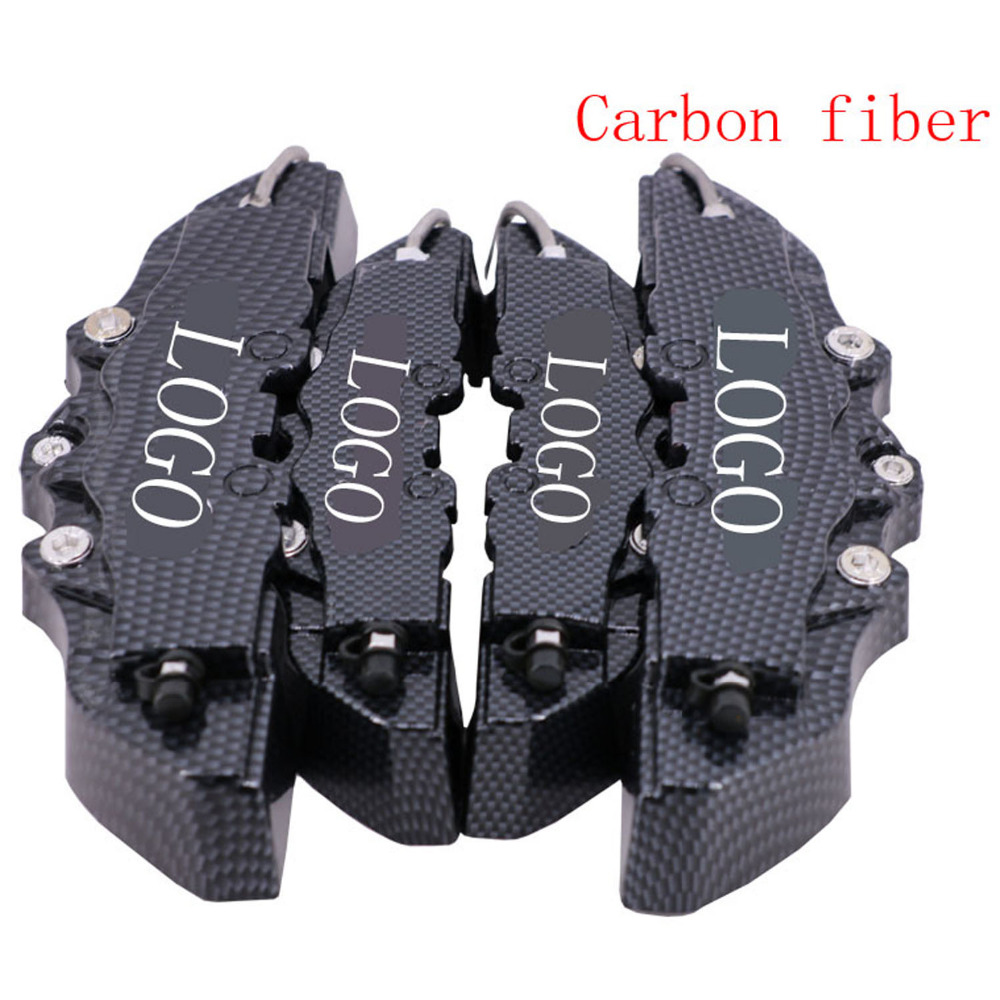 HAPPY FISH HAPPY Type 4PCS 3D Disc Brake Caliper Cover Front Rear Carbon Fiber