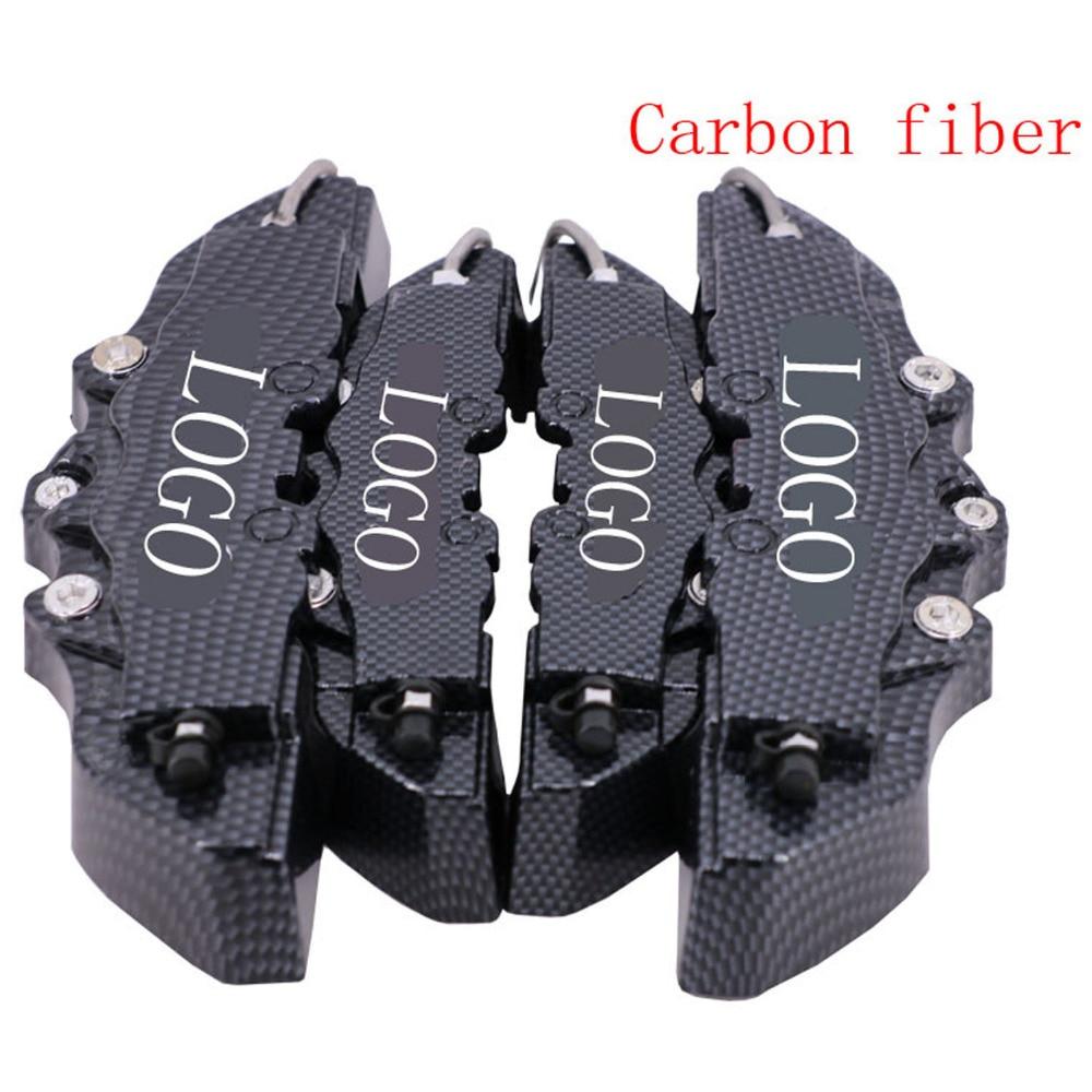 Front /& Rear large /& middle high quality black 4PCS 3D Brake Caliper Cover bre.