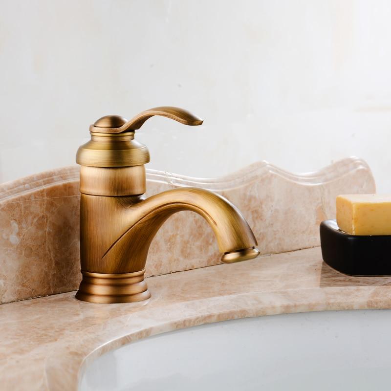 Здесь продается  YAOPENG European style Brass faucets bathroom Gold Mixer Tap Single Handle Hot and Cold Mixer Washbasin taps Antique style  Строительство и Недвижимость