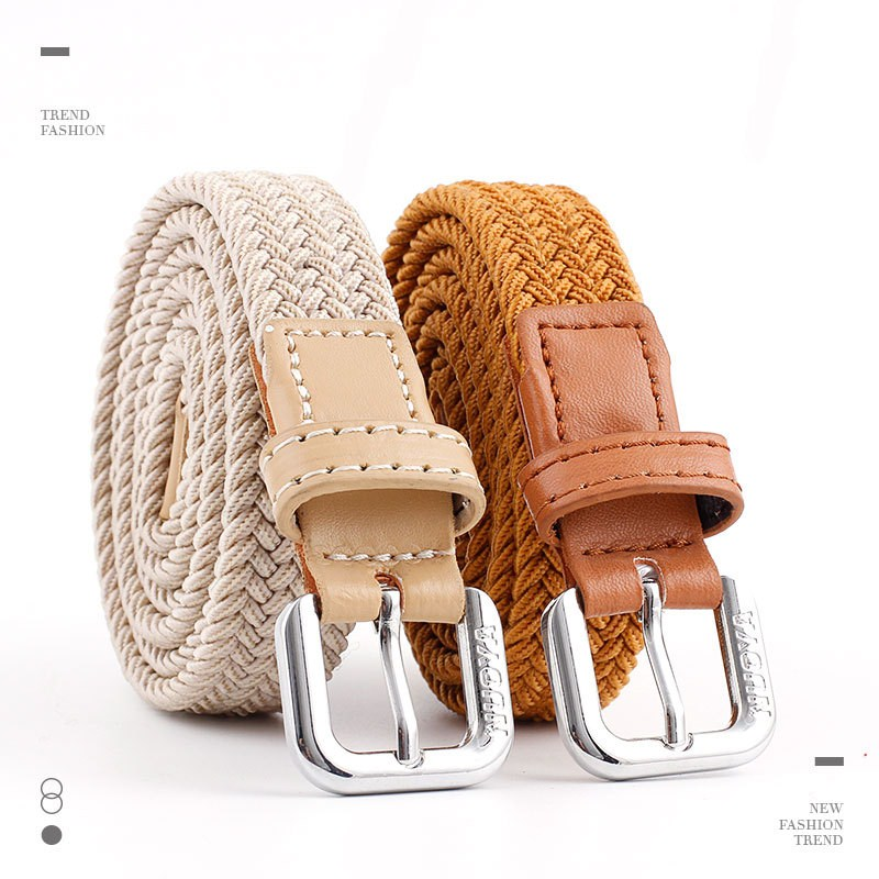2019 Elastic   Belt   Knitted Canvas   Belt   Decoration   Belts   Female Buckle Hip Hop Fashion For Women Waist   Belts   For Women Jeans Pants