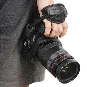 Image 4 - Yeni kamera PU deri kavrama hızlı bilek kayışı yumuşak el kavrama kamera çantası evrensel Canon Nikon Sony için olympus siyah