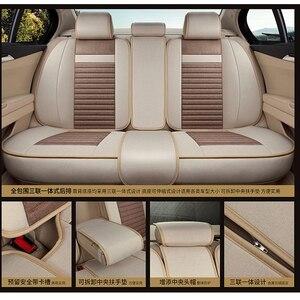 Image 5 - Lino copertura di sede dellautomobile Completamente circondato biancheria di cuoio quattro stagioni tappetino cuscino del sedile auto 95% 5 seggiolino auto può utilizzare seggiolino auto copre