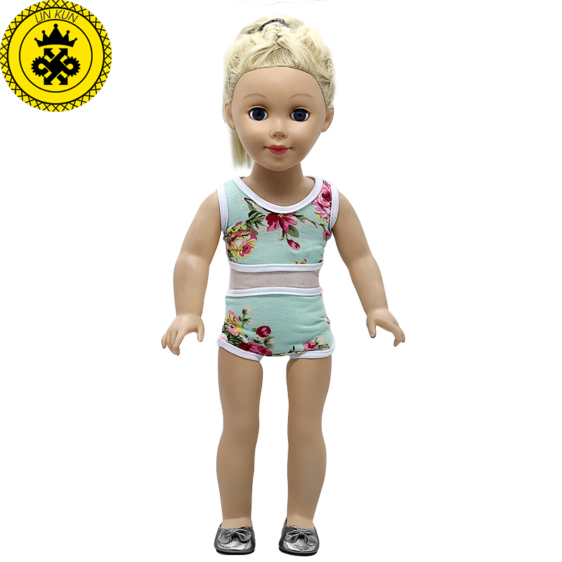 18 inch Girl Doll Clothes Summer Style Swimsuit Suit fit 18 inch 18 inch Girl Doll Accessories Girl Best Gift MG-549