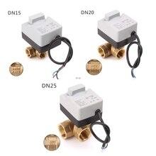 AC220V 3 דרך חשמלי הממונע כדור Valve שלוש חוט שני שליטה עבור מיזוג אוויר