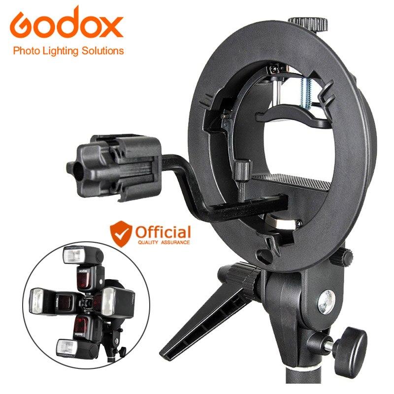 Godox S-type Bowens Bracket +S-FA Universal Aluminium Alloy Flash Speedlite Holder Adapter Hot Shoe Mount Adapter KIT For flash