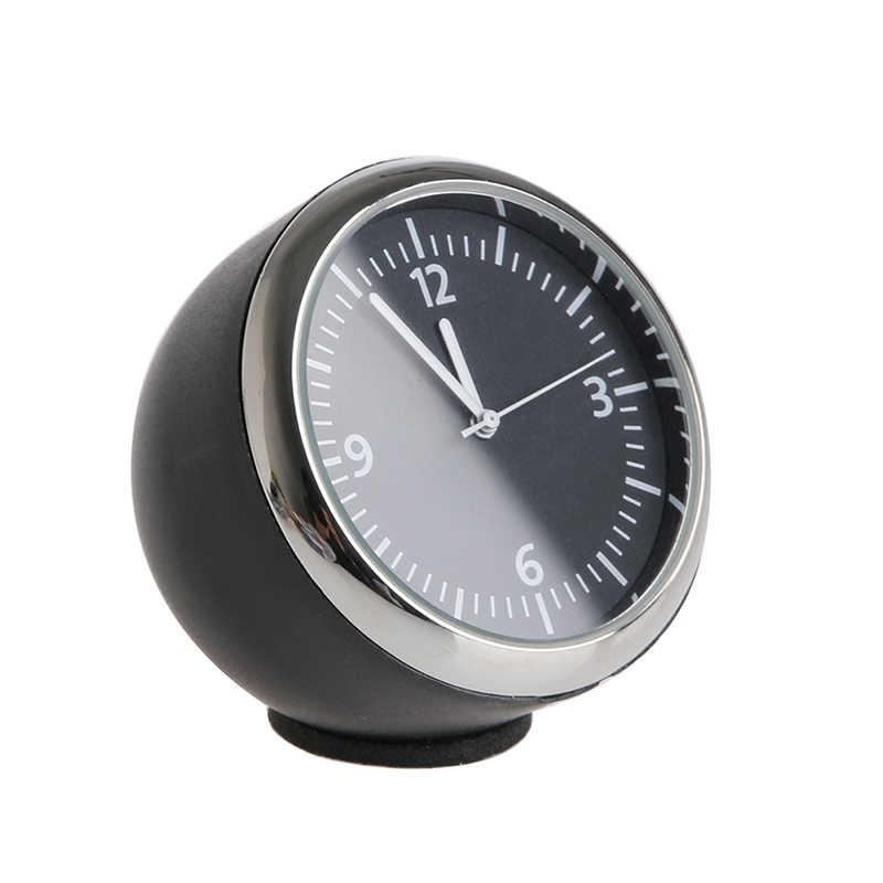 Novo 1 pc carro automático quente mini relógio de quartzo ponteiro relógio digital decoração suprimentos automóveis alta qualidade