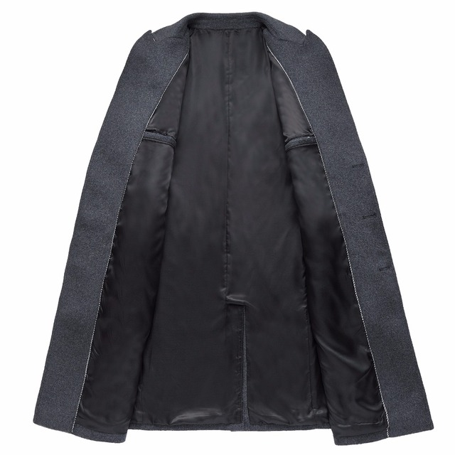 Shanghai Story Men's Wool Jacket Coat Double Breasted men's Woolen Overcoat Male Classic Coat