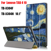 Tab4 10 Painted Pu Leather Magnet Stand Smart Case For Lenovo TAB 4 10 TB X304F