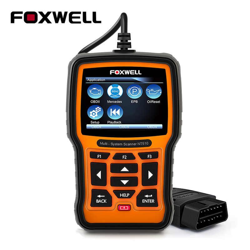 FOXWELL NT510 For Mercedes Benz W211 W204 W220 Diagnostic