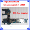 Europea versão mainboard para samsung note 4 n910f original placa lógica motherboard placa de sistema android bom trabalho