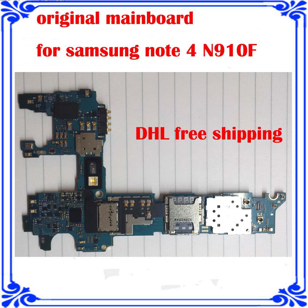 Europea version mainboard For Samsung NOTE 4 N910F original motherboard Android system board good working Logic Board