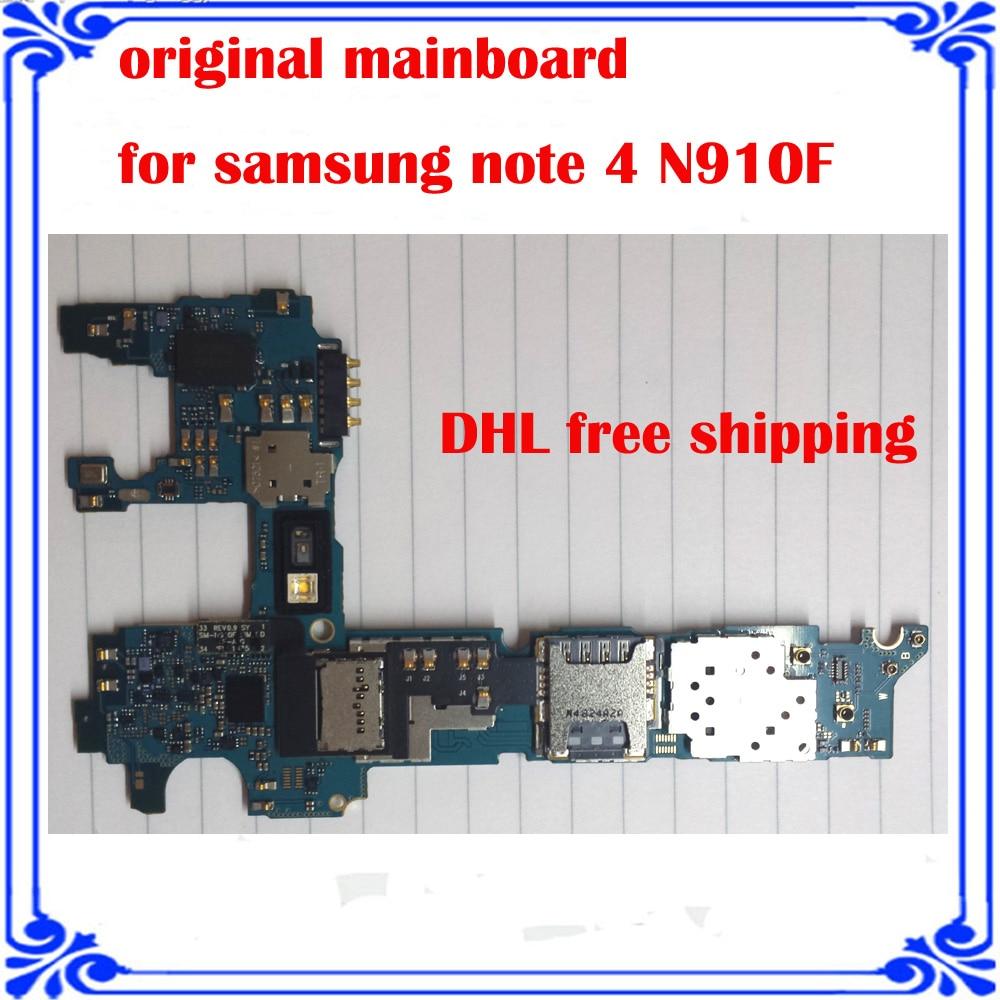 imágenes para Versión Europea placa base Para Samsung NOTA 4 N910F original Placa Lógica motherboard placa del sistema Android buen trabajo