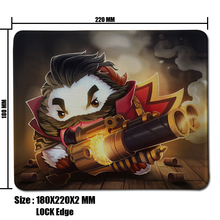 Graves Poro LOL Mouse Pad Computer Mousepad League of legends Large Gaming Mouse Mats To Mouse Gamer Anime  Mouse Pad