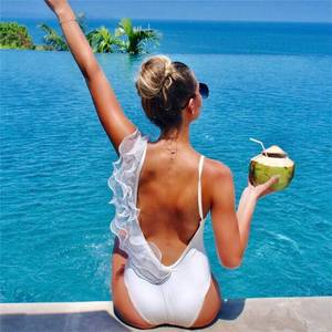 Women Rompers Sexy Bodysuit Lace Lattice Element Solid Jumpsuits Bench Fashion  Summer Jumpsuit Overall Basic Skinny Swimming