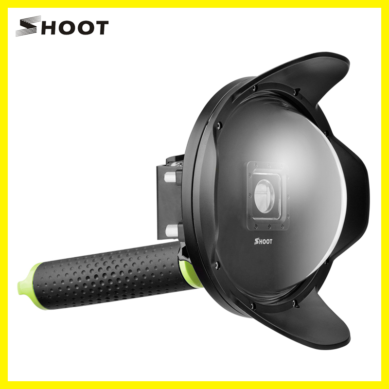 Diving Underwater Transparent Cover Dome Lens Dome Port Shell for Xiaoyi xiaomi 4K Camera with High Quality meikon underwater diving camera waterproof cover case for canon 650d 18 55mm lens black
