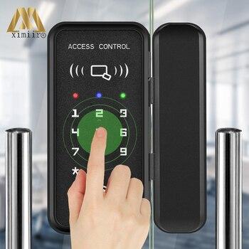 High-quality Office Glass Card Door Lock Smart Glass Door Lock XM-R1 Biometric Card & Password Lock Supplier Free Shipping