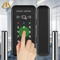 Hochwertige Büro Glas Karte Türschloss Smart Glas Türschloss XM-R1 Biometrische Karte & Passwort Schloss Lieferant Kostenloser Versand