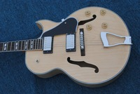 Free shipping New Arrival G L 5 L5 Jazz guitar F Semi Hollow Natural color Electric guitar
