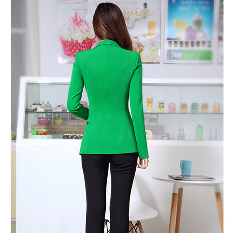 Women's suit jacket 2019 new autumn Korean version of the slim long-sleeved small suit ladies jacket professional jacket