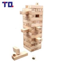 TQ Brand 48Pcs Jenga Tower Wood Building Blocks Toy Stacker Extract Building Educational Jenga Game Gift