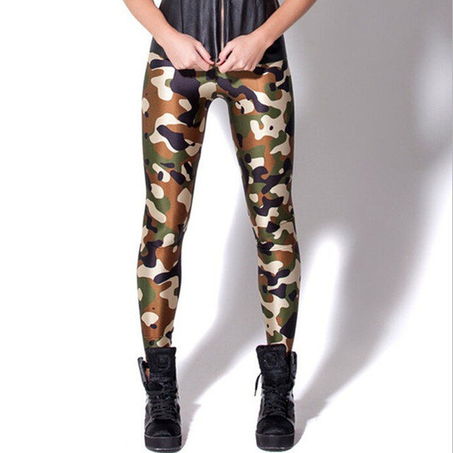 High Quality 3D Fashion Women Leggings Camouflage Print Leggings  Elastic Fitness Pants Ropa Deportiva Mujer